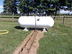 Tank to house line propane How far